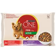 Purina ONE Small Dog våtfôr for små hunder < 10 kg Active