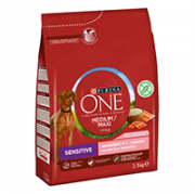 Purina ONE Medium/Maxi > 10 kg Sensitive Rik på Laks med ris