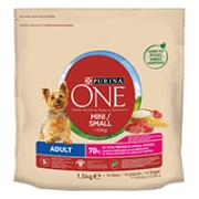 Purina ONE Small Dog tørrfôr for små hunder < 10 kg Adult Rik på okse, med ris