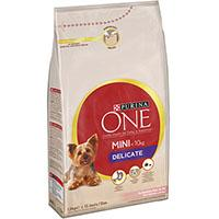 Purina ONE Small Dog < 10 kg Delicate, Med laks og ris