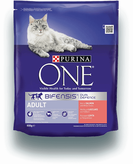 PURINA ONE Adult Cat, Rik på laks og helkorn