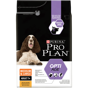 ​PURINA® PRO PLAN® Medium & Large Adult 7+ med OPTIAGE® Rik på kylling