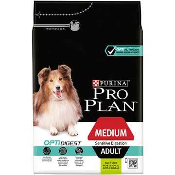 ​PURINA® PRO PLAN® Medium Adult Sensitive Digestion med OPTIDIGEST® Rik på lam