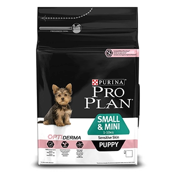 PURINA® PRO PLAN® Small & Mini Puppy Sensitive Skin med OPTIDERMA® Rik på laks