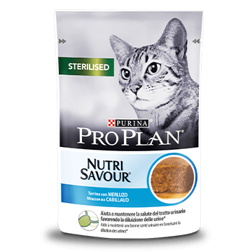 PURINA® PRO PLAN® Sterilised NutriSavour® Terrine, med Torsk
